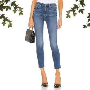 NWT MOTHER The Looker Ankle Fray Jeans High Waist